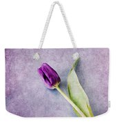 Purple Tulip Weekender Tote Bag