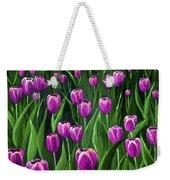 Purple Tulip Field Weekender Tote Bag