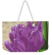 Purple Tulip Weekender Tote Bag