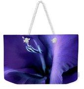 Purple Velvet Gladiolus Flower Weekender Tote Bag by Jennie Marie Schell