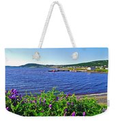 Purple Vetch Overlooking Rocky Harbour-nl Weekender Tote Bag