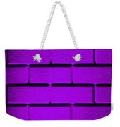 Purple Wall Weekender Tote Bag by Semmick Photo