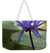 Purple Water Lily In The Shade Weekender Tote Bag