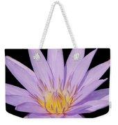 Purple Water Lily Weekender Tote Bag