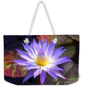 Purple Waterlily With Fall Lilypads Weekender Tote Bag