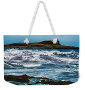 Purple Wave Weekender Tote Bag