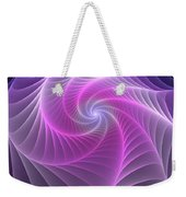 Purple Web Weekender Tote Bag
