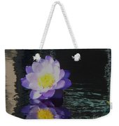 Purple White Yellow Lily Weekender Tote Bag