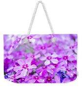 Purple Wildflower Weekender Tote Bag