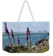 Purple Wildflowers At Netarts Bay Weekender Tote Bag
