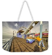 Pushing On The Pier Weekender Tote Bag