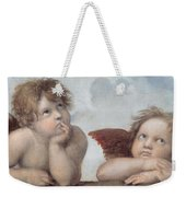 Putti Detail From The Sistine Madonna Weekender Tote Bag