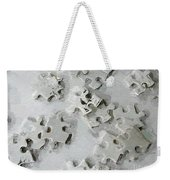 Putting Puzzle Pieces Together Weekender Tote Bag