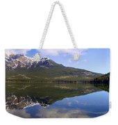 Pyramid Lake Mountain Reflections - Jasper, Alberta Weekender Tote Bag