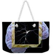 Pyramidal Neuron And Brain Weekender Tote Bag