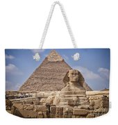 Pyramids And Sphinx In Egypt Weekender Tote Bag