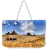 Pyramids Of Giza In Egypt Weekender Tote Bag