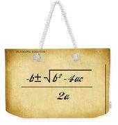 Quadratic Equation - Aged Weekender Tote Bag
