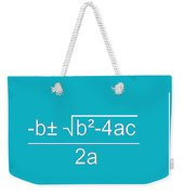 Quadratic Equation Aqua-white Weekender Tote Bag