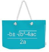 Quadratic Equation Aqua-white Weekender Tote Bag
