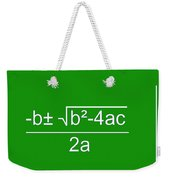 Quadratic Equation Green-white Weekender Tote Bag