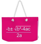 Quadratic Equation Weekender Tote Bag