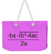 Quadratic Equation Pink-black Weekender Tote Bag