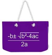 Quadratic Equation Violet-white Weekender Tote Bag