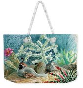 Quail At Rest Weekender Tote Bag