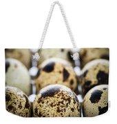 Quail Eggs Weekender Tote Bag by Elena Elisseeva