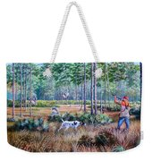 Quail Hunting...a Southern Tradition. Weekender Tote Bag