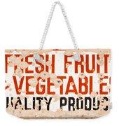 Quality Produce Weekender Tote Bag