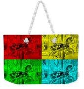 Quad Color Horses Weekender Tote Bag