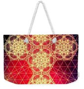 Quantum Cross Hand Drawn Weekender Tote Bag by Jason Padgett