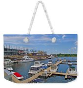 Quays Along Saint Lawrence River In Montreal-qc Weekender Tote Bag