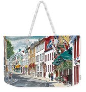 Quebec Old City Canada Weekender Tote Bag