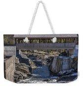 Quechee Covered Bridge Weekender Tote Bag