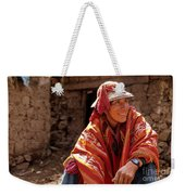 Quechua Man Sacred Valley Peru Weekender Tote Bag