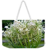 Queen Anne's Lace Flower Unfolded Weekender Tote Bag