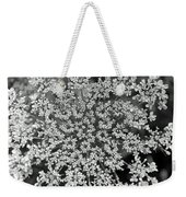 Queen Anne's Lace In Black And White Weekender Tote Bag