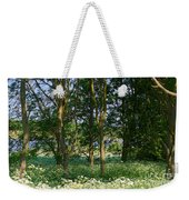 Queen Anne's Lace Makes A White Carpet In The Woods Near Rutland Weekender Tote Bag