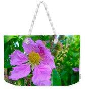Queen Flower Or Giant Crepe Myrtle Flower Weekender Tote Bag by Lanjee Chee