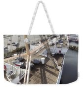 Queen Mary Ocean Liner Bow 03 Long Beach Ca Weekender Tote Bag