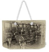 Queen Mary Ocean Liner Bridge 01 Heirloom Weekender Tote Bag
