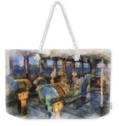 Queen Mary Ocean Liner Bridge 01 Photo Art 01 Weekender Tote Bag