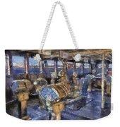 Queen Mary Ocean Liner Bridge 01 Photo Art 02 Weekender Tote Bag