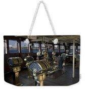 Queen Mary Ocean Liner Bridge 01 Weekender Tote Bag