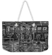 Queen Mary Ocean Liner Bridge 02 Bw Weekender Tote Bag