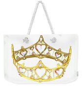 Queen Of Hearts Crown Tiara By Kristie Hubler Weekender Tote Bag