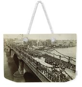 Queen Victoria In Carriage Weekender Tote Bag